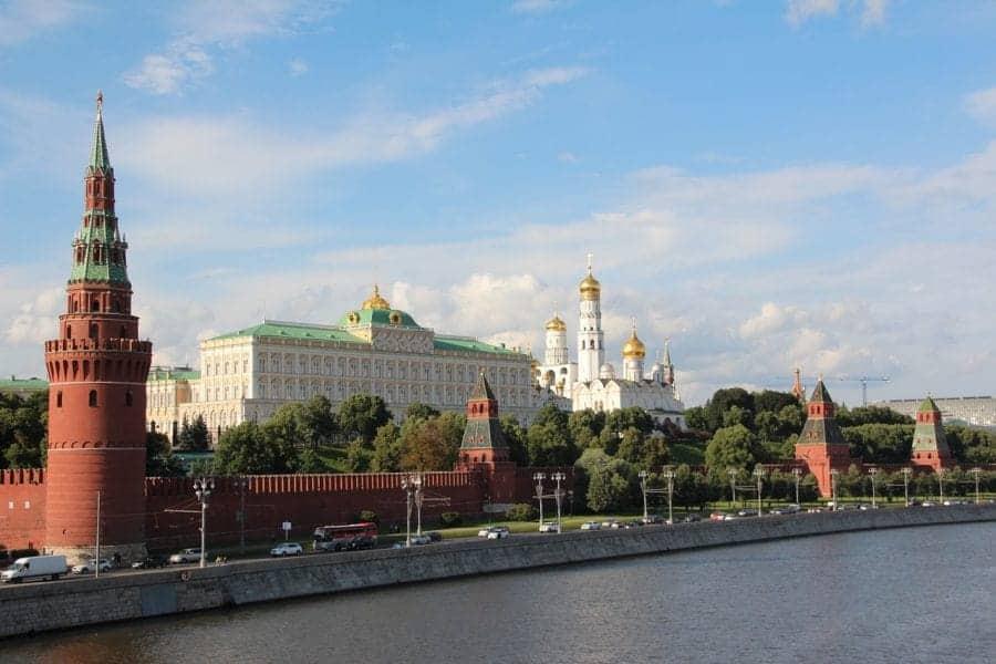 Widok na rzekę Moskwę i Kreml fot. pixabay