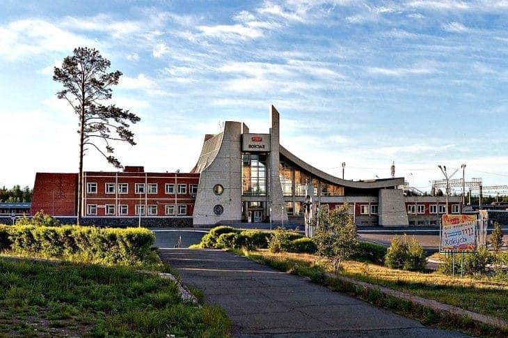 Dworzec kolejowy, Siewierobajkalsk fot. wikimedia.org