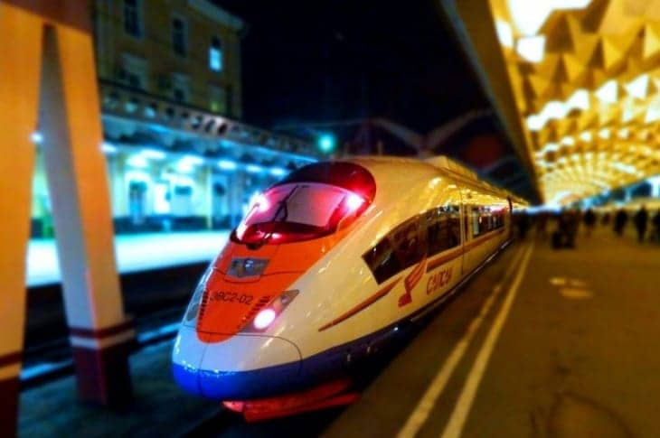 Pociąg typu Sapsan fot. rzd.ru