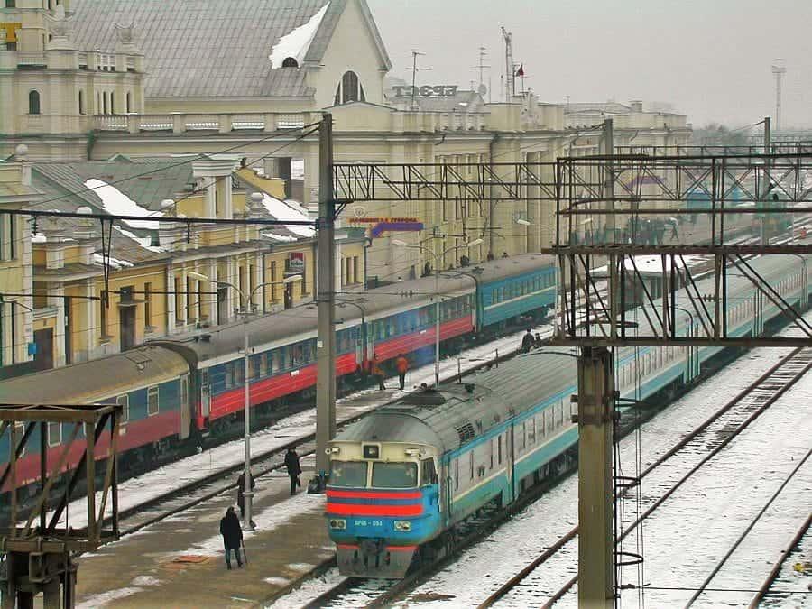 Dworzec kolejowy w Brześciu fot. wikimedia.org